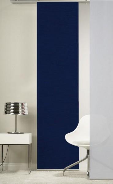 Nachtblau Schiebevorhang 1-teilig