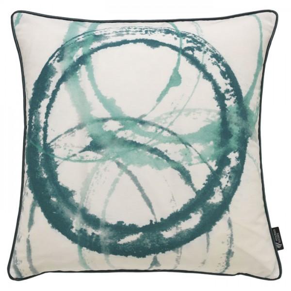 Aquarellkreise Mint - Kissenhülle 50 x 50 cm