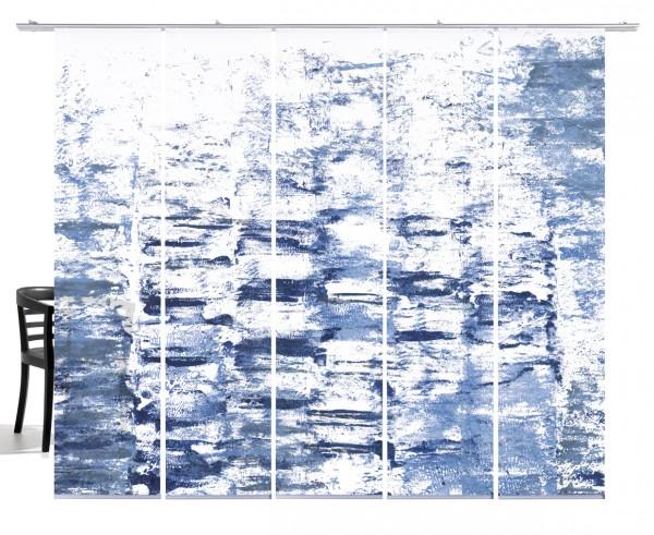 Textur taubenblau Flächenvorhang 5-teiliges Set