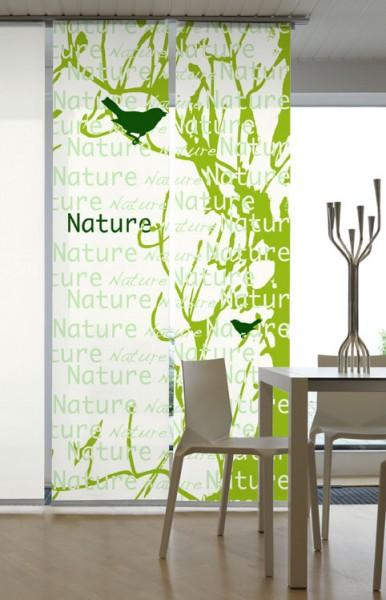 Nature Grün Flächenvorhänge 2-teiliges Set