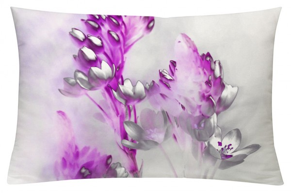 Floralzauber Magenta - Kissenhülle 60 x 40 cm