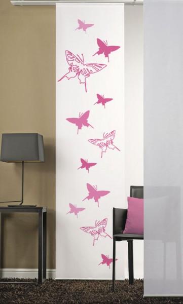 Schmetterlinge 2 Pink Flächenvorhang 1-teilig