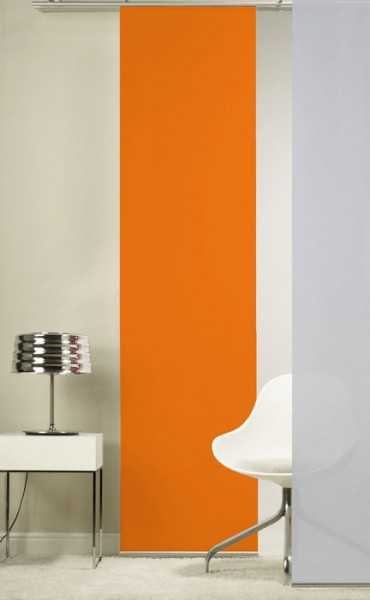 Orange Schiebevorhang 1-teilig