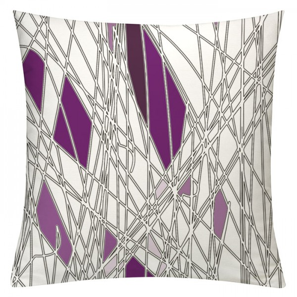 Labyrinth Violett - Kissenhülle 50 x 50 cm