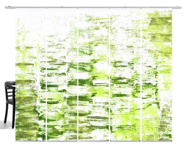 Textur grün Flächenvorhang 5-teiliges Set