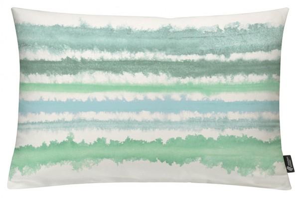Aquarellstreifen Mint - Kissenhülle 60 x 40 cm