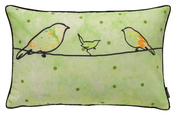 Crazy birds green - Kissenhülle 60 x 40 cm