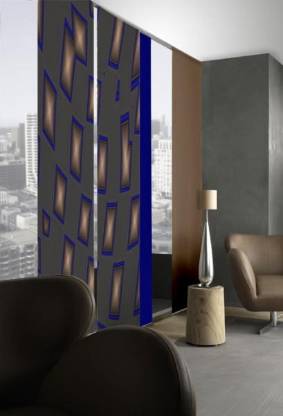 New Wave Grau Flächenvorhänge 2-teiliges Set