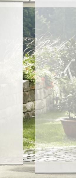 Weiß Transparent Schiebevorhang 1-teilig - keine Wahl der Stoffart-
