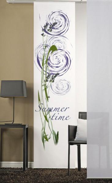 Summertime Lila Flächenvorhang 1-teilig