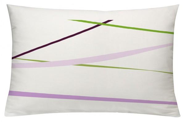 Linien PinkKiwigrün - Kissenhülle 60 x 40 cm