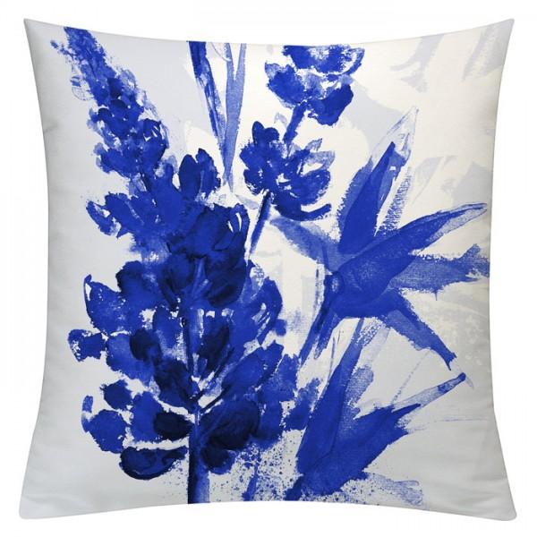 Lupinenaquarell Royalblau - Kissenhülle 50 x 50 cm