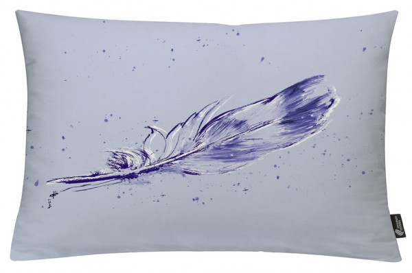 Temperafeder Taupe - Kissenhülle 60 x 40 cm