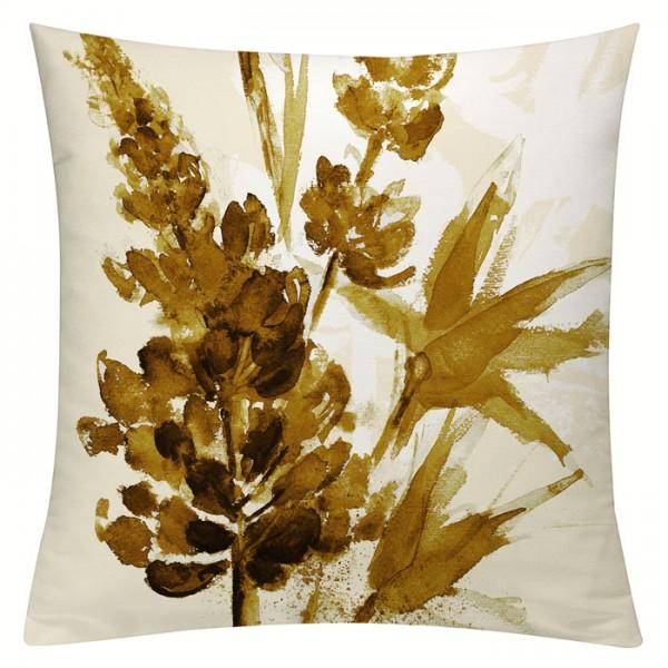 Lupinenaquarell Sepia - Kissenhülle 50 x 50 cm