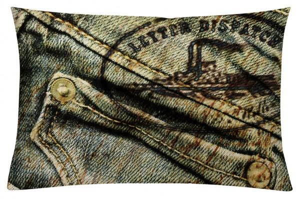 Jeans Sepia - Kissenhülle 60 x 40 cm