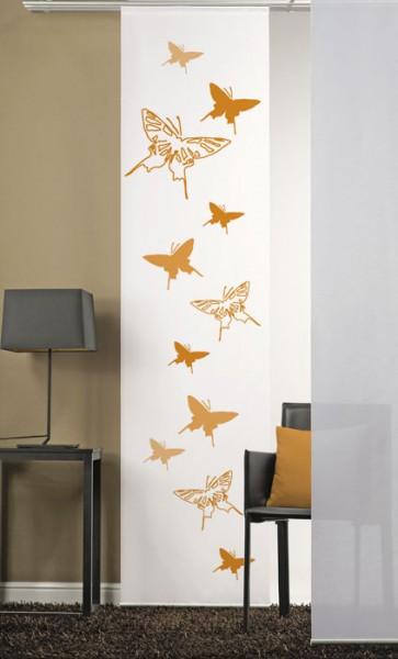 Schmetterlinge 2 Orange Flächenvorhang 1-teilig