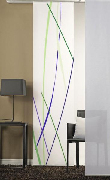 Linien Lila Grün Schiebevorhang 1-teilig