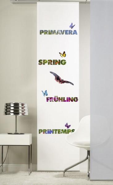 Frühling Schiebevorhang 1-teilig