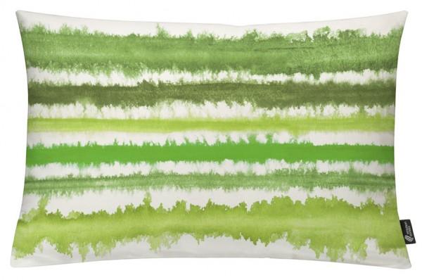 Aquarellstreifen Grün - Kissenhülle 60 x 40 cm