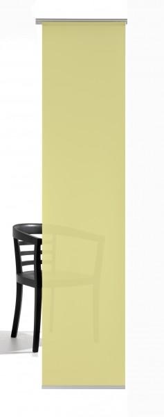 Pastell Gelb Schiebevorhang 1-teilig