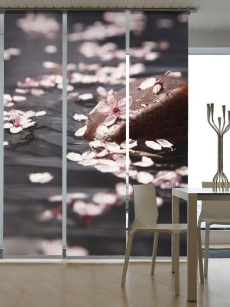 Wasserblüten Schiebegardinen 3-teiliges Set