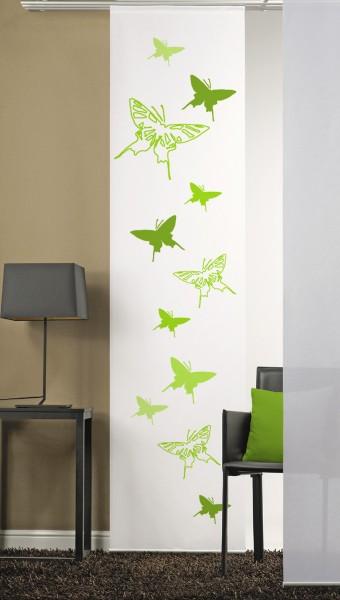 Schmetterlinge 2 Grün Schiebegardine 1-teilig