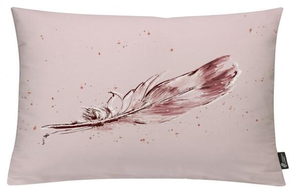 Temperafeder Altrosa - Kissenhülle 60 x 40 cm