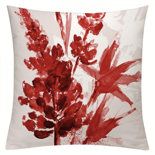 Lupinenaquarell Rot - Kissenhülle 50 x 50 cm