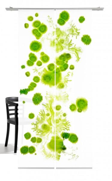 Genesis grün Schiebegardine 2 -teiliges Set