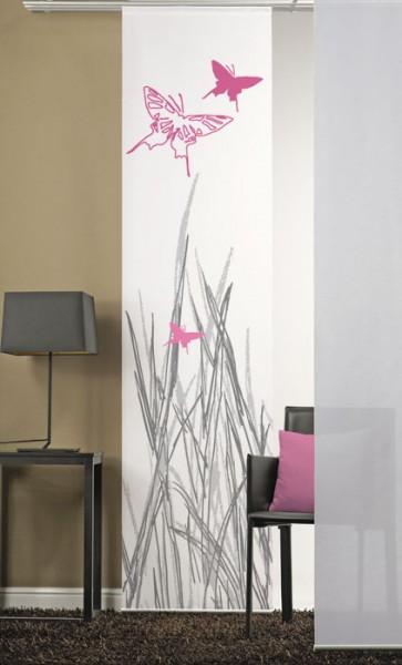 Schmetterlinge 1 Pink Flächenvorhang 1-teilig