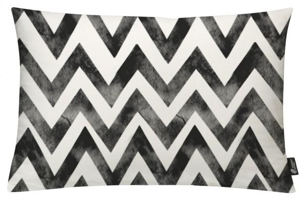 Zigzag Batik Black - Kissenhülle 60 x 40 cm