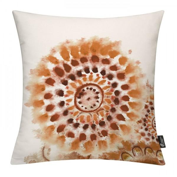 Batikblume Braun - Kissenhülle 50 x 50 cm