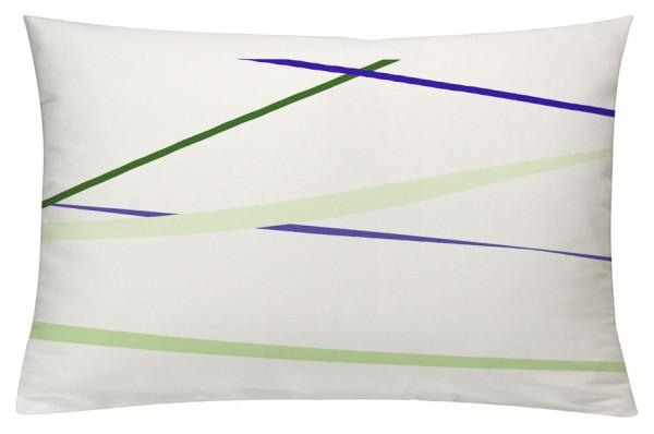 Linien LilaGrün - Kissenhülle 60 x 40 cm