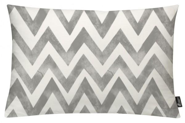 Zigzag Batik Grey - Kissenhülle 60 x 40 cm