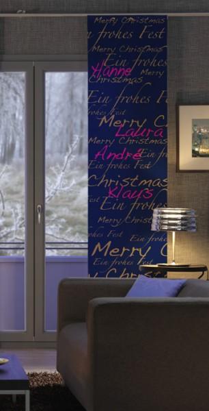 Weihnachten X-Mas individualisierbarer Vorhang1-teilig