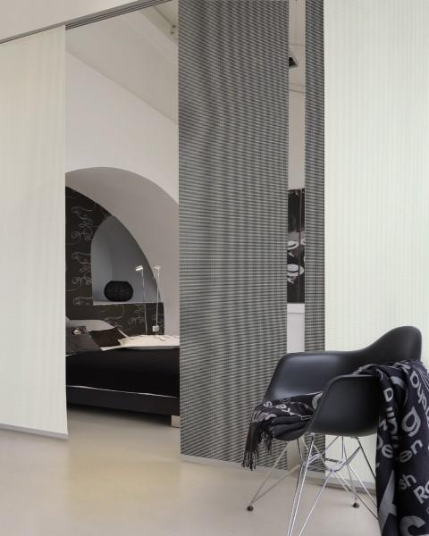 Sound black/white Akkustikstoff Raumtrenner Flächenvorhang 1-teilig - Stoffartwahl nicht möglich