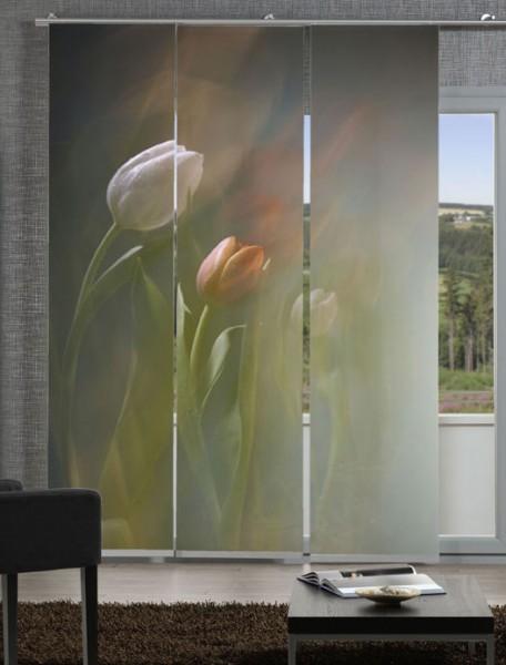 Tulpen Schiebegardinen 3-teiliges Set