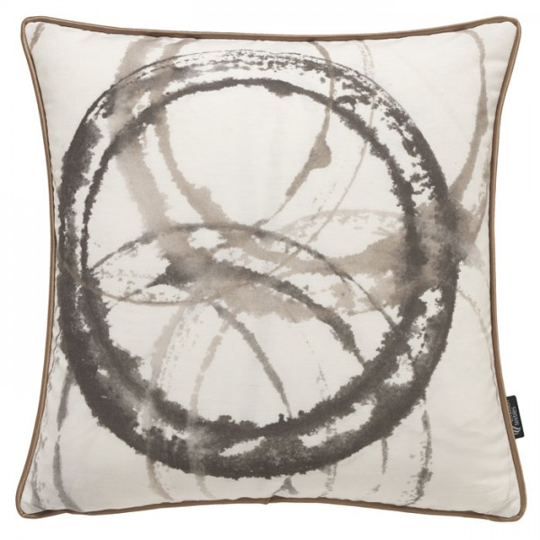 Aquarellkreise Sepia - Kissenhülle 50 x 50 cm
