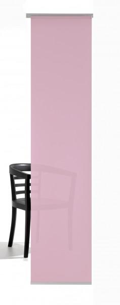 Pastell Rosa Schiebevorhang 1-teilig