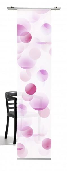 Kreise pastelllila Flächenvorhang 1-teiliges Set