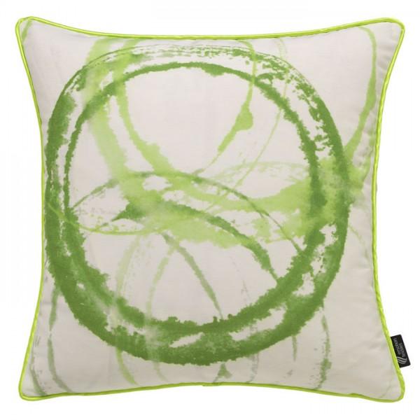 Aquarellkreise Grün - Kissenhülle 60 x 40 cm