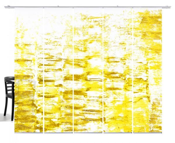Textur senfgelb Flächenvorhang 5-teiliges Set