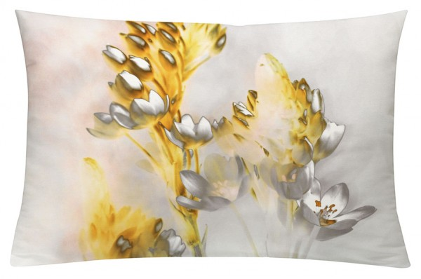 Floralzauber Gelb - Kissenhülle 60 x 40 cm
