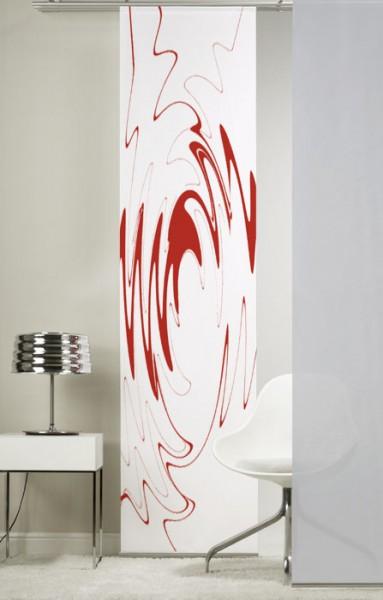 BeCool Rot Schiebevorhang 1-teilig