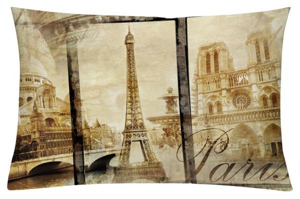Alt Paris Sepia - Kissenhülle 60 x 40 cm