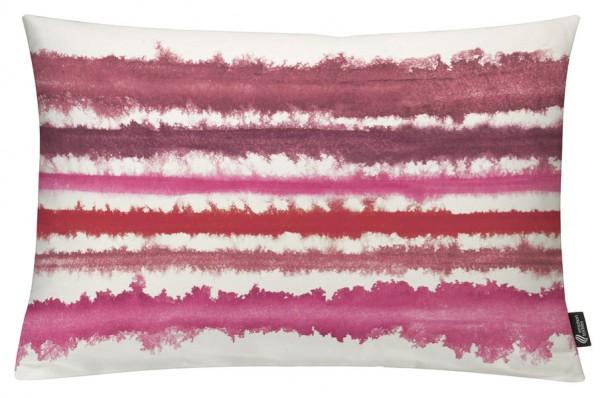 Aquarellstreifen Rot-Pink - Kissenhülle 60 x 40 cm