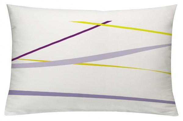Linien FliederGelb - Kissenhülle 60 x 40 cm