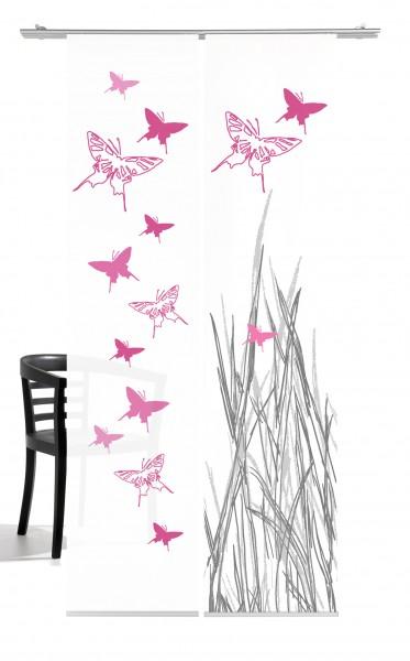 Schmetterling pink Flächenvorhang 2-teiliges Set