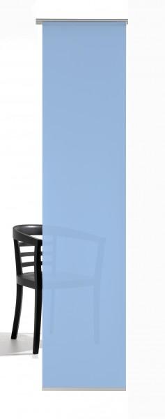 Pastell Blau Schiebevorhang 1-teilig