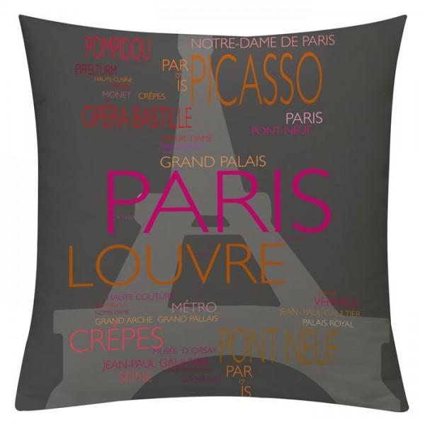 La Tour Eiffel Pink-Orange - Kissenhülle 50 x 50 c